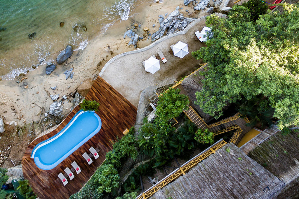 Xinalani Beach Club Aerial